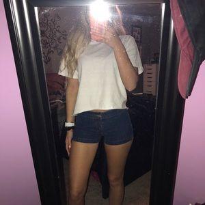 Blue Asphalt Jean Shorts